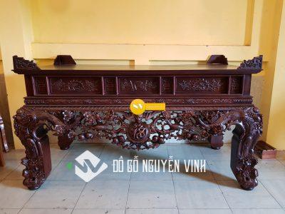 sập thờ gỗ gụ là một mẫu sập thờ đẹp- một đồ thờ chất lượng